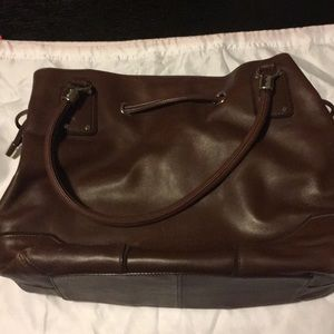 Cole Haan brown leather satchel/shoulder bag